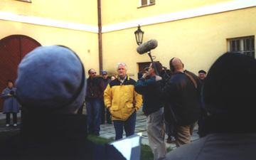 Nick Strimple participates in a Terezin documentary